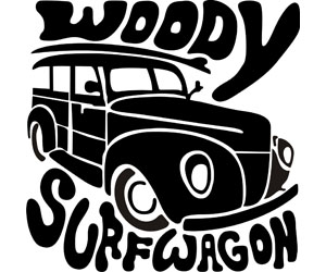 Woody Surfwagon Black and White