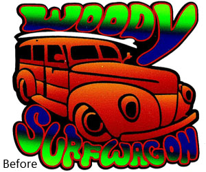 Woody Surfwagon Color